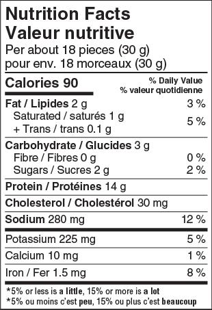 Teriyaki Biltong Nutritional facts